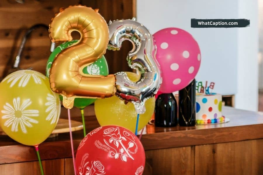 23rd Birthday Captions for Instagram