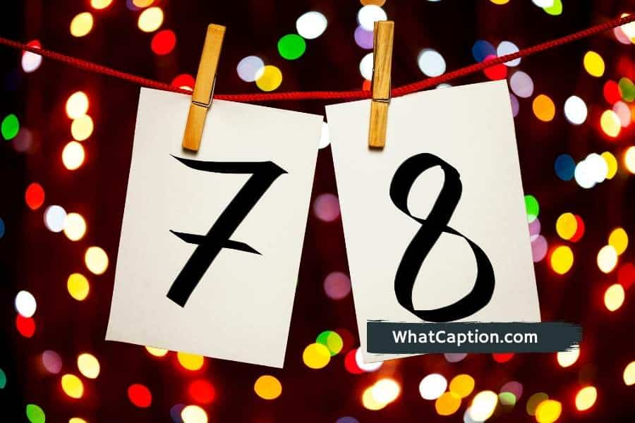 78th Birthday Captions
