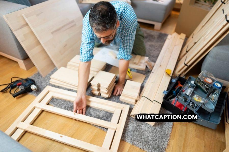Furniture Building Captions for Instagram
