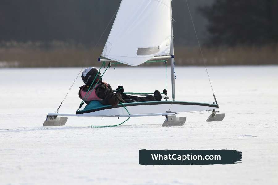 Iceboat Racing Captions for Instagram